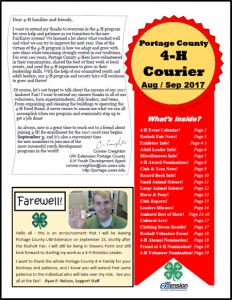 4-H courier newsletter image